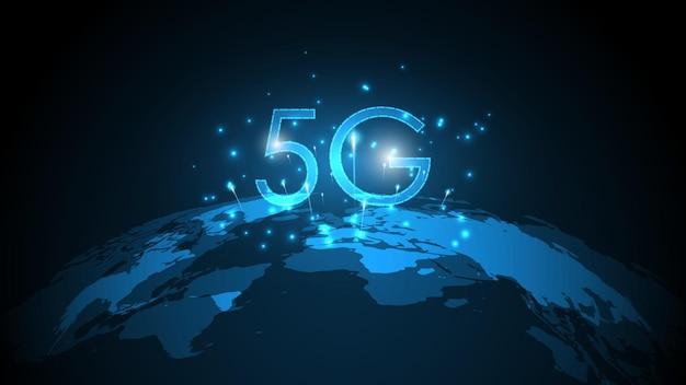 Connexion internet sans fil au réseau 5g, internet des objets, réseau de communication, télécommunications à haut débit et à large bande
