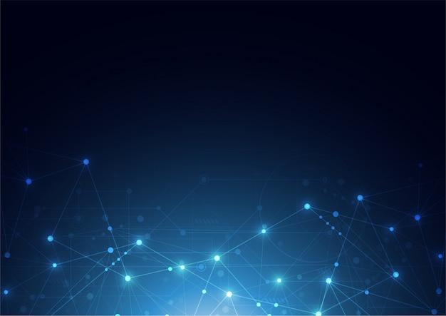 Connexion internet sens abstrait de la science
