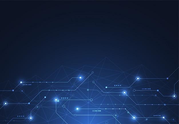 Connexion internet, sens abstrait de la science