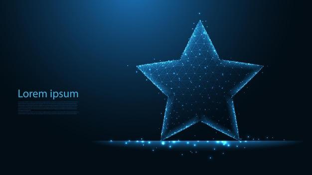 Connexion à la ligne en étoile. conception filaire low poly. abstrait géométrique. illustration vectorielle.