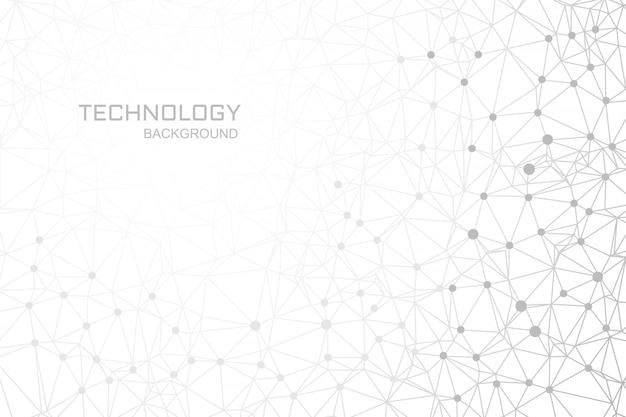 Connexion des lignes de fond de technologie numérique polygone