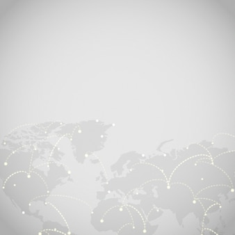 Connexion mondiale illustration vectorielle fond gris