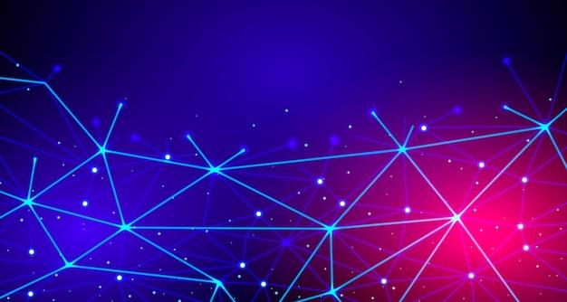 Connexion réseau dégradé de fond de technologie