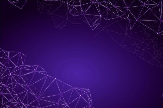 Connexion réseau de fond de technologie