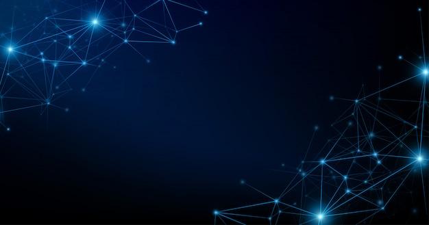 Connexion réseau internet sur fond sombre