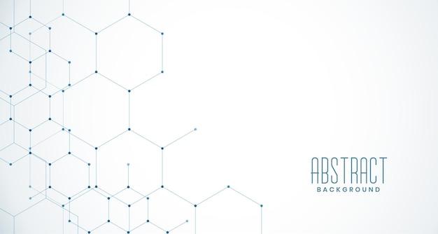 Connexion réseau maillée hexagonale élégante