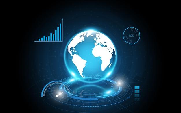 Connexion réseau mondiale carte du monde abstrait technologie fond