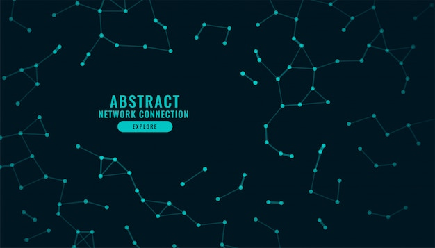 Connexion réseau numérique technologie low poly background