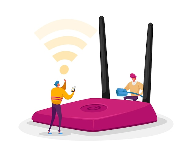 Connexion sans fil, concept technologique moderne
