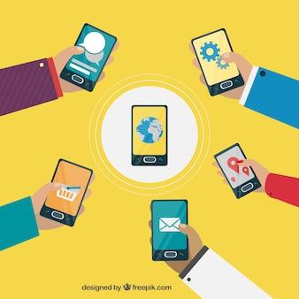 Connexion smartphones