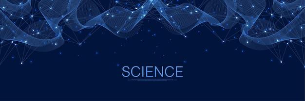 Connexions réseau numérique abstraites fond bleu intelligence artificielle et technologie d'ingénierie ...