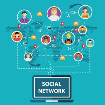 Connexions de réseaux sociaux