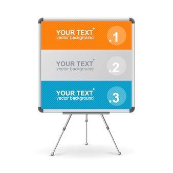 Conseil coloré pour discours de conférence de présentation d'entreprise