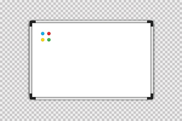Conseil de marqueur. tableau blanc. conseil de marqueur vecteur blanc vide isolé