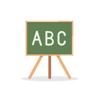 Conseil scolaire avec icône alphabet lettres