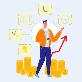 Conseiller financier, consultant, vecteur, illustration