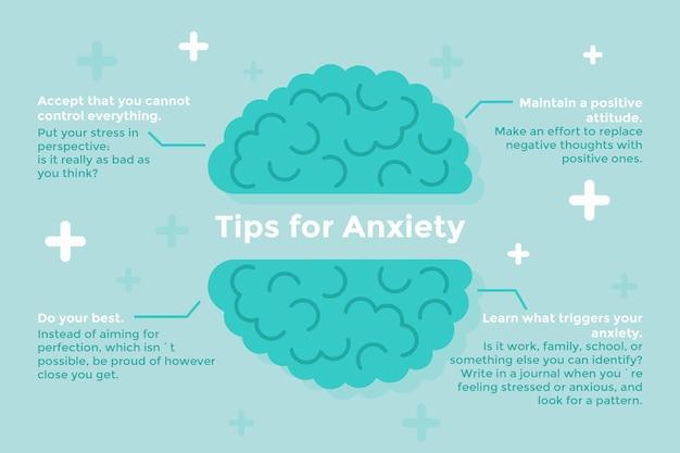 Conseils pour l'anxiété infographique