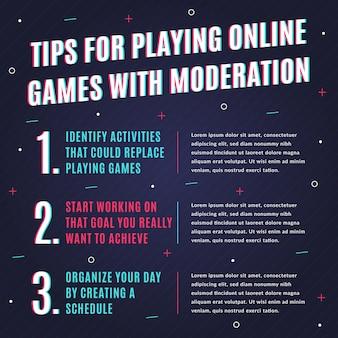 Conseils pour jouer à des jeux avec modération