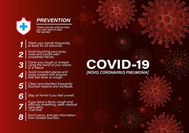 Conseils de prévention des virus covid 19