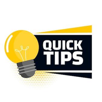 Conseils rapides avec ampoule