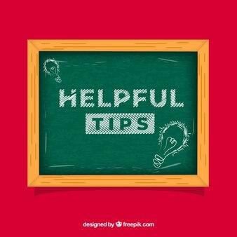 Conseils utiles composition avec tableau noir