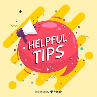 Conseils utiles fond avec mégaphone