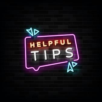 Conseils utiles modèle d'enseigne au néon style néon