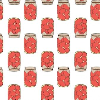 Conserves de tomates en conserve.