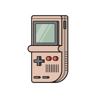 Console électronique de jeu rétro. jouet vintage intellectuel classique. jeux portables d'arcade portables des années 90.