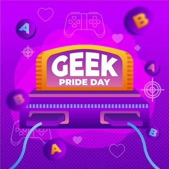 Console de jeu vidéo rétro geek pride day