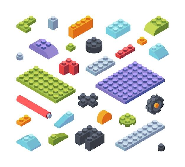 Constructeur enfants pièces isométriques grand ensemble illustration