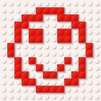 Constructeur sourire rouge