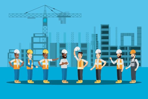 Constructeurs de construction et ingénieurs