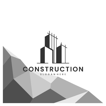 Construction, bâtiment, bureau, inspiration de conception de logo