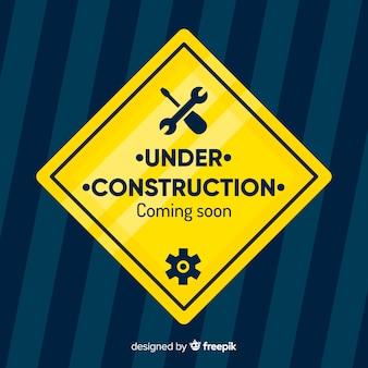 En construction fond plat