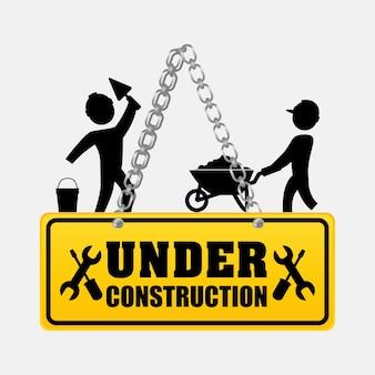 En construction hommes ouvriers casque de marche