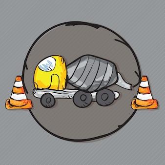 Construction icons trucks (camion malaxeur à béton)