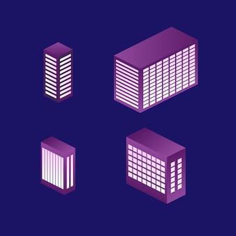 Construction isométrique, chaque partie est bien groupée et facile à réorganiser