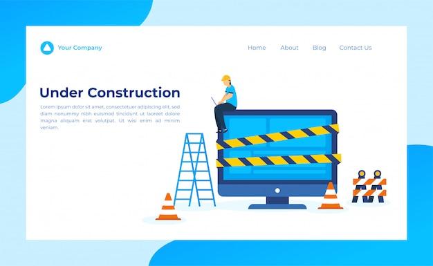 En construction landing page