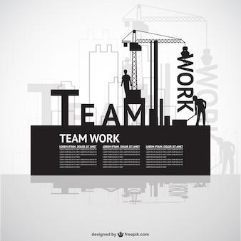 Construction modèle de travail d'équipe