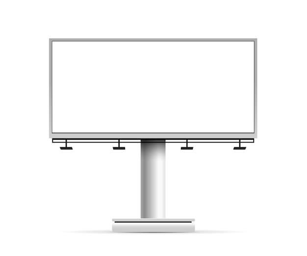 Construction de panneaux d'affichage maquette vide vector illustration