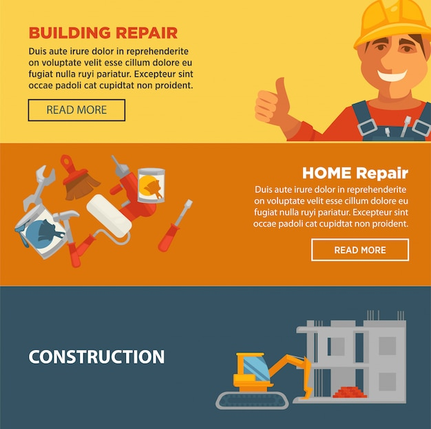 Construction et réparation de bâtiments