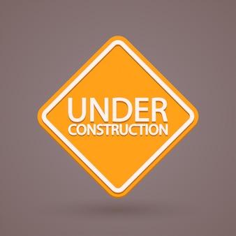 Construction de signe orange