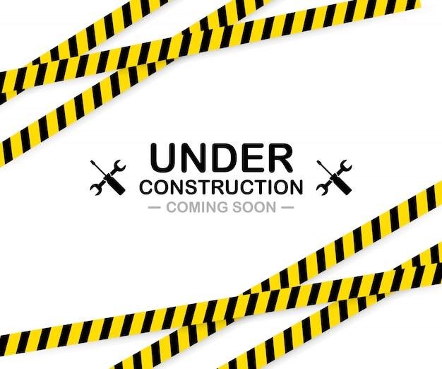 En construction signe.