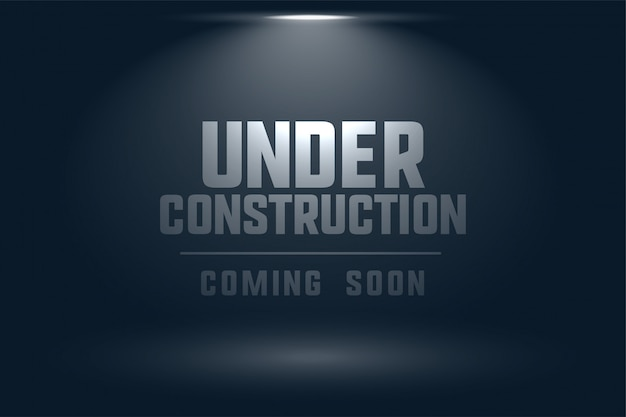 En construction à venir bientôt fond clair