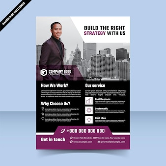 Construire la bonne conception de modèle de flyer violet stratégie