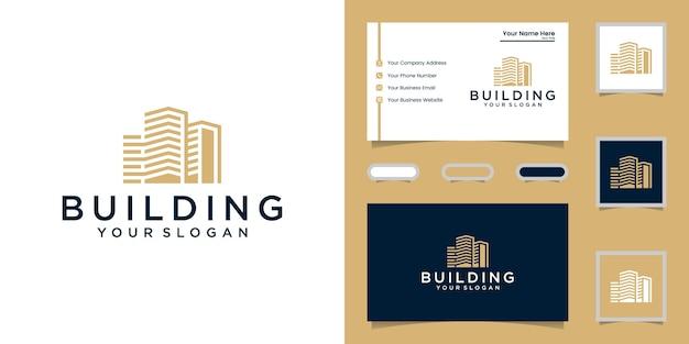 Construire une source d'inspiration avec un logo de style art en ligne et une carte de visite