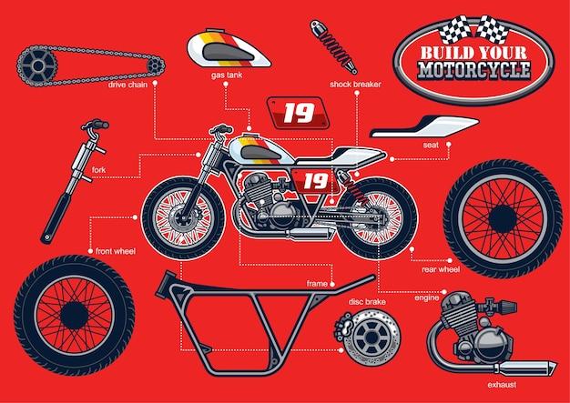 Construisez votre moto de course avec des pièces séparées