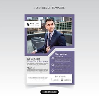 Consultant en affaires digital marketing agency flyer poster template design
