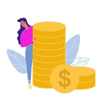 Consultant financier plat illustration vectorielle